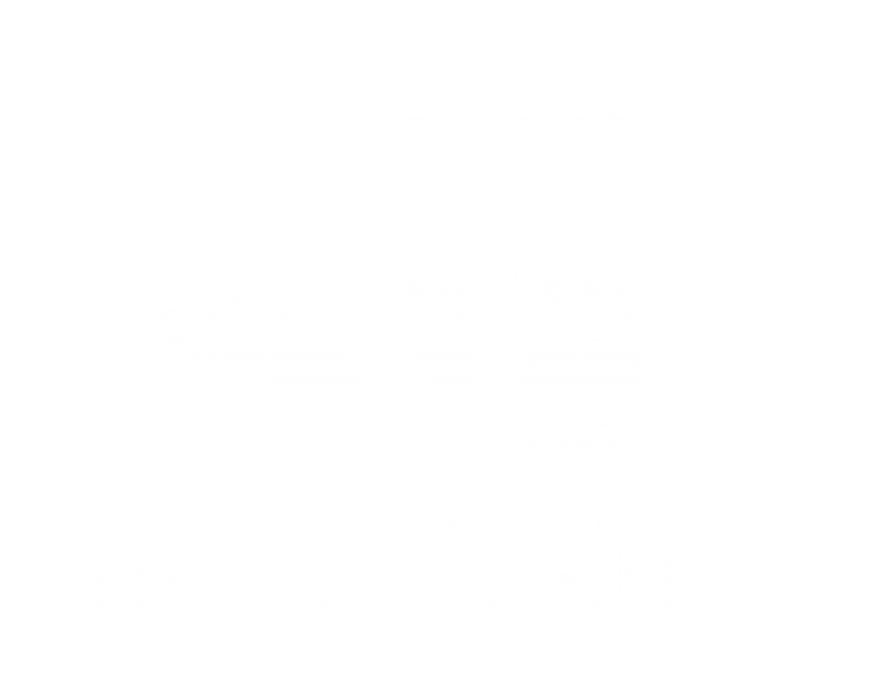 Buzz Oates white logo