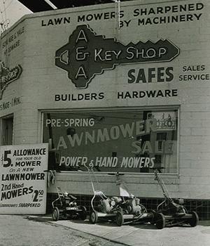 Buzz Oates history key shop storefront