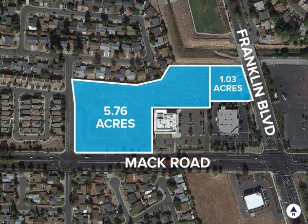 Mack Road & Franklin Blvd Aerial