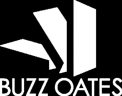 Buzz Oates white logo